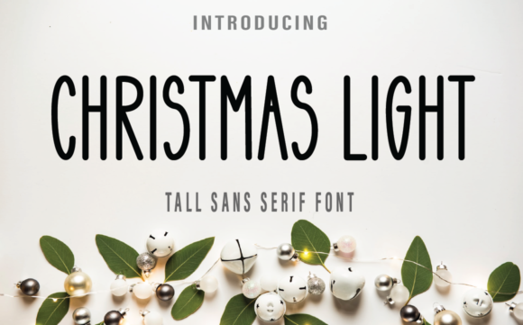 Print on Demand: Christmas Light Sans Serif Font By Farz Studio