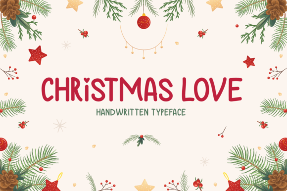 Print on Demand: Christmas Love Display Font By Seemly Fonts