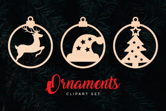 Christmas Ornaments Cut Files Graphic