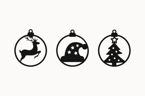 Christmas Ornaments Cut Files Graphic Download