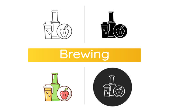 Print on Demand: Cider Icon Graphic Icons By bsd studio