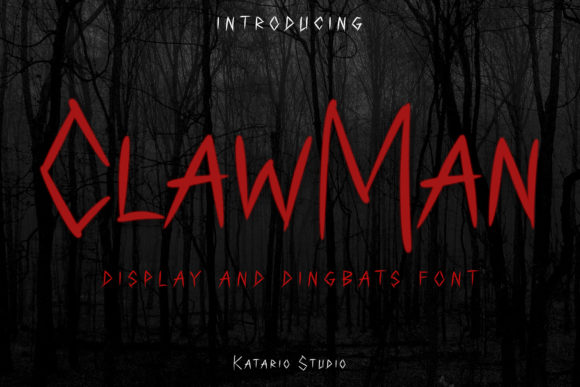 Print on Demand: ClawMan Display Font By Katario Studio