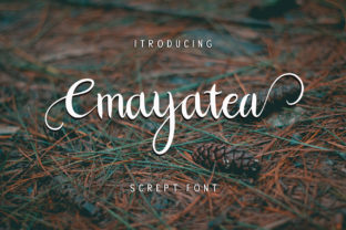 Print on Demand: Cmayatea Script & Handwritten Font By Alit Design