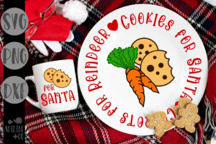 Cookies for Santa, Carrots for Reindeer Graphic Crafts By adelinenco