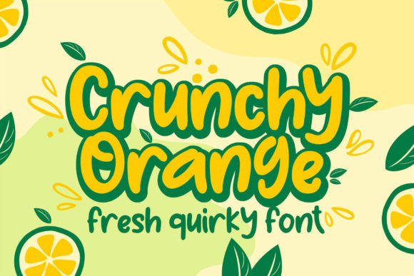Print on Demand: Crunchy Orange Display Font By RT Studio