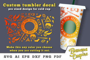 Print on Demand: Custom Tumbler Decal, Personalized Cup Graphic Crafts By Banana Empire