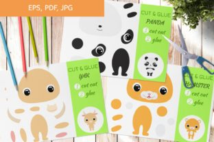 Cut and Glue Games for Kids Graphic Crafts By JexyArt