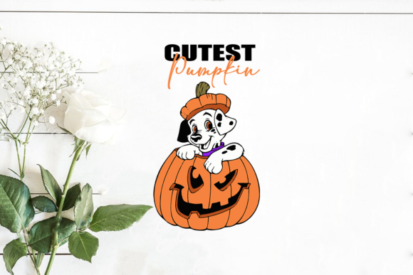 Cutest Pumpkin Dalmation Dog Graphic Print Templates By Silhouette Market