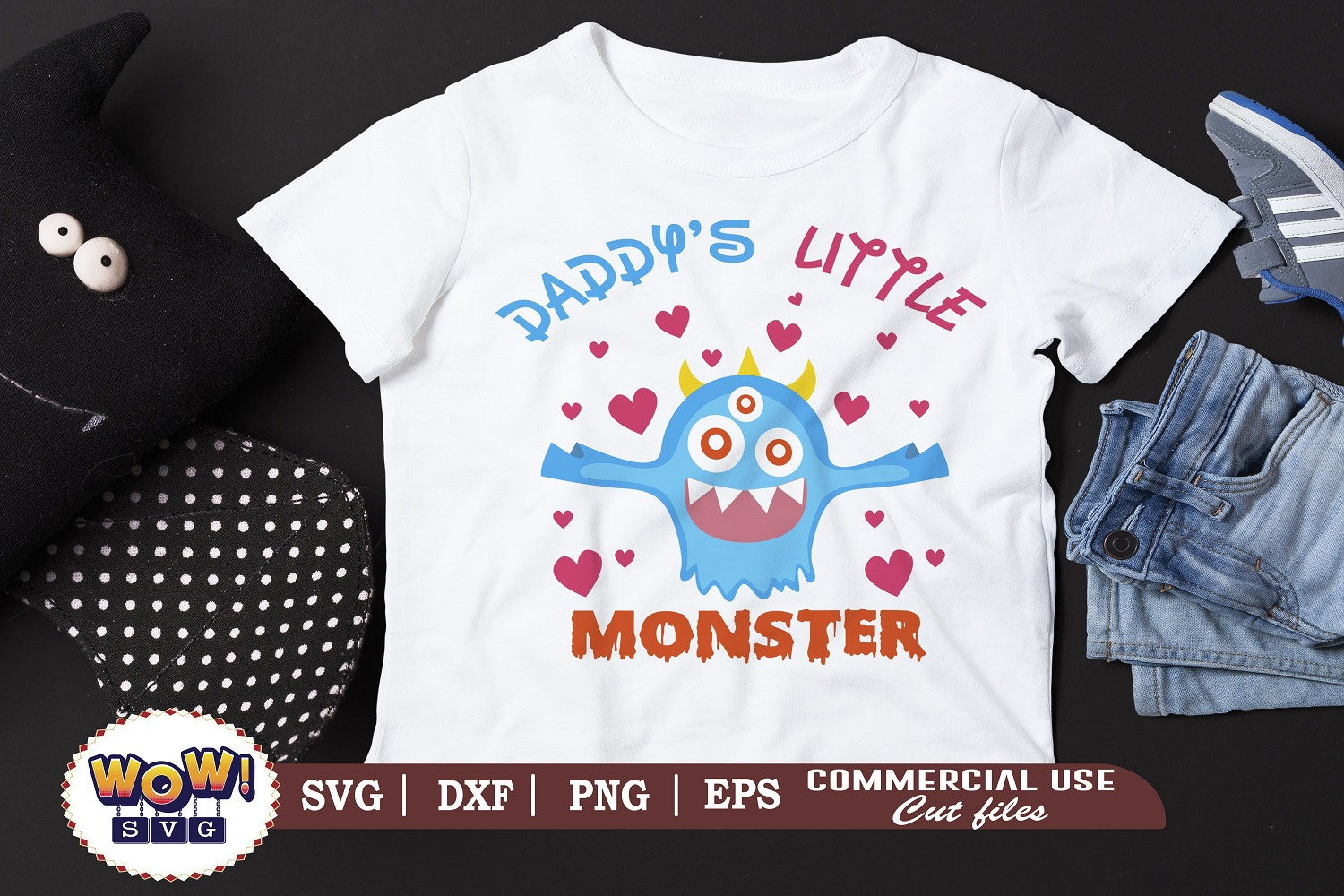 Daddy S Little Monster Svg Halloween Svg Graphic By Wowsvgstudio Creative Fabrica