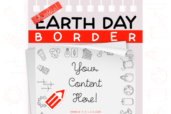 Earth Day Border Template Graphic Print Templates By WADLEN