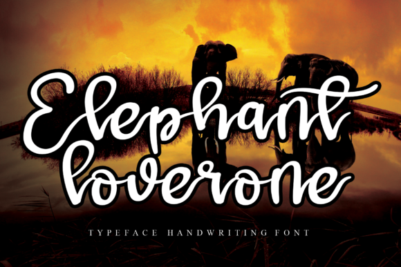 Print on Demand: Elephant Script & Handwritten Font By Micro77 type