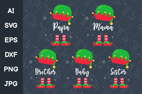 Elf Family at Christmas Graphic Illustrations By CRStocker