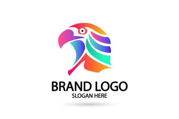 Print on Demand: Falcon, Eagle Gradient Logo Graphic Logos By Dender Studio