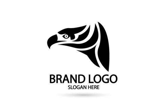 Print on Demand: Falcon Eagle Logo Icon Silhouette Vector Graphic Logos By Dender Studio