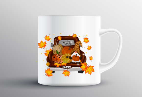 Fall Gnome Truck Thankful Sublimation Graphic Item