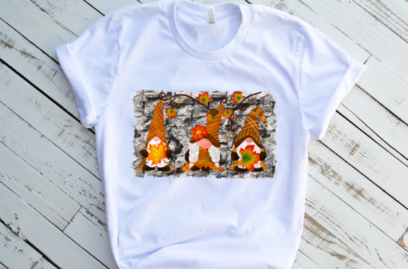 Fall Gnomes Thankful Design Sublimation Graphic Download