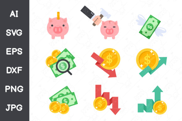 Financial Business Icon Graphic Icons By CRStocker
