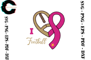 Print on Demand: Football Lover Breast Cancer Warrior Gif Graphic Print Templates By SVG Creation