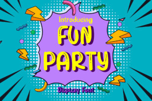 Print on Demand: Fun Party Display Font By boogaletter