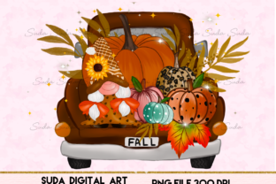Print on Demand: Gnome Truck Thanksgiving Sublimation Graphic Illustrations By Suda Digital Art