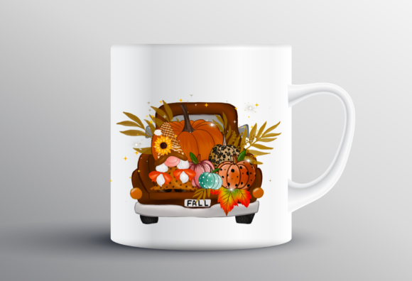Gnome Truck Thanksgiving Sublimation Graphic Design