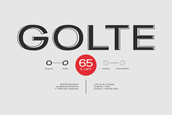 Print on Demand: Golte Sans Serif Font By Maulana Creative