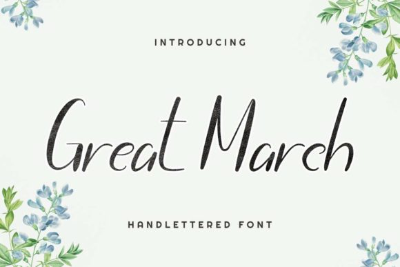 Print on Demand: Great March Script & Handwritten Font By EdricStudio