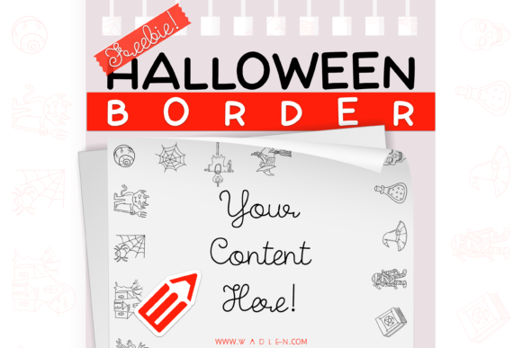 Halloween Border Template Graphic Print Templates By WADLEN