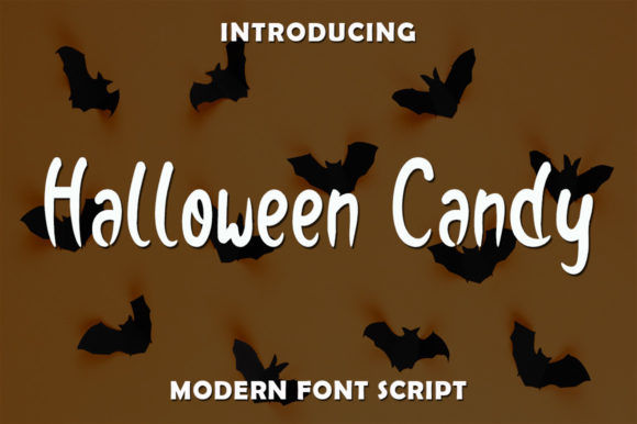 Print on Demand: Halloween Candy Script & Handwritten Font By rangkaiaksara