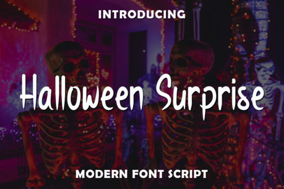 Print on Demand: Halloween Surprise Script & Handwritten Font By rangkaiaksara