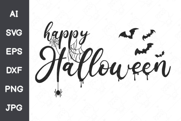 Happy Halloween Font Design Graphic Illustrations By CRStocker