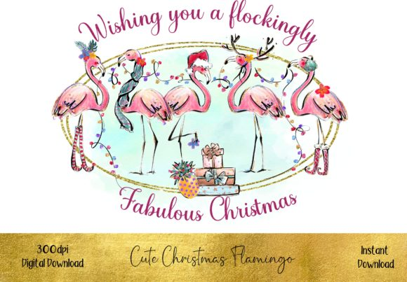 Have a Flockingly Fabulous Christmas Gráfico Illustrations Por STBB