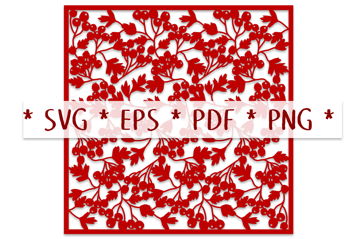 Hawthorn Berry 12×12 Page SVG Cut File SVG File