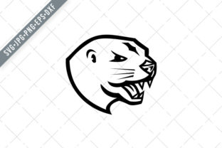 Print on Demand: Head of Angry North American River Otter Graphic Illustrations By patrimonio
