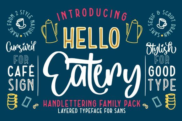 Print on Demand: Hello Eatery Script & Handwritten Font By Garisman Studio