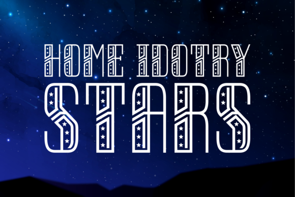 Print on Demand: Home Idotry Stars Display Font By Situjuh
