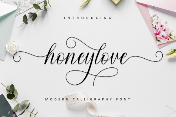 Print on Demand: Honeylove Script & Handwritten Font By MJB Letters