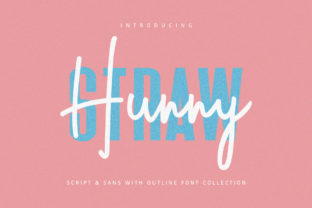Print on Demand: Hunny Straw Script & Handwritten Font By Maulana Creative