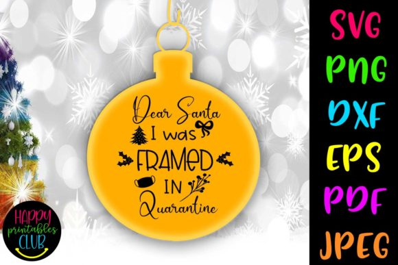 Print on Demand: I Was Framed-Christmas Quarantine Graphic Crafts By Happy Printables Club