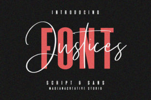 Print on Demand: Justices Script & Handwritten Font By Maulana Creative