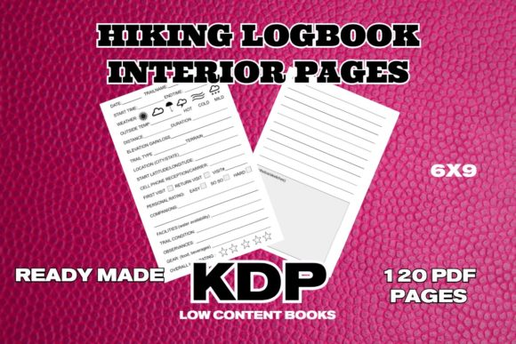 KDP Hiking Logbook Interior Pages Graphic KDP Interiors By .99 Cent Digital Products