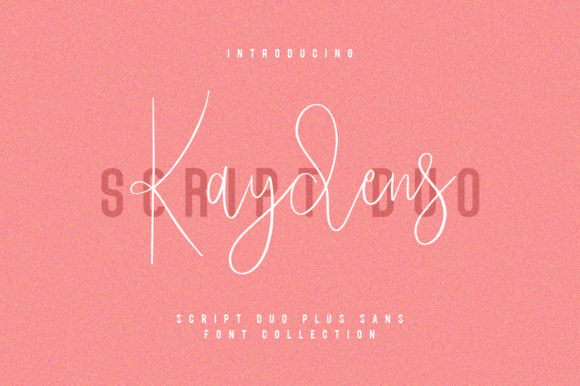 Print on Demand: Kaydens Script & Handwritten Font By Maulana Creative