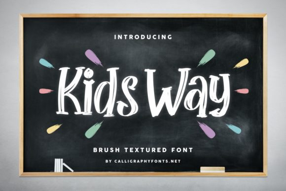 Print on Demand: Kids Way Script & Handwritten Font By CalligraphyFonts