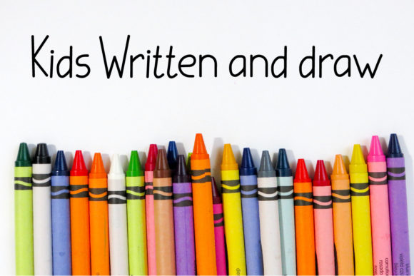 Print on Demand: Kids Written Script & Handwritten Font By Designvector10