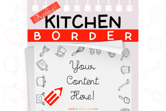 Kitchen Border Template Graphic Print Templates By WADLEN