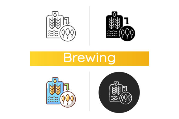 Print on Demand: Malting Icon Graphic Icons By bsd studio