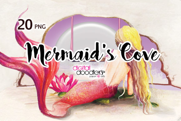 Print on Demand: Mermaid's Cove Graphic Illustrations By Digital Doodlers
