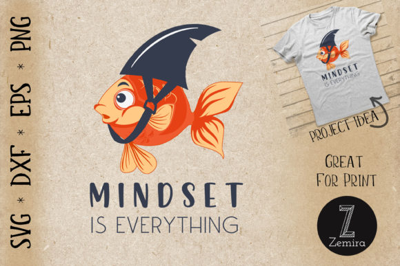 Print on Demand: Mind Set is Everything Funny Quote Graphic Crafts By Zemira