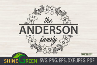 Print on Demand: Monogram Frame Flowers, Floral, Family Graphic Crafts By ShineGreenArt