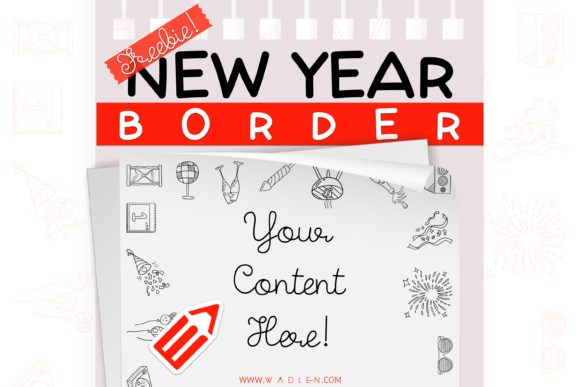New Year Border Template Graphic Print Templates By WADLEN